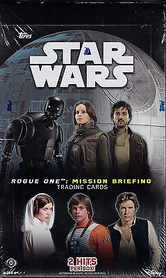 Topps Star Wars : Rogue One Mission Briefing unopened hobby box 24 packs of 8