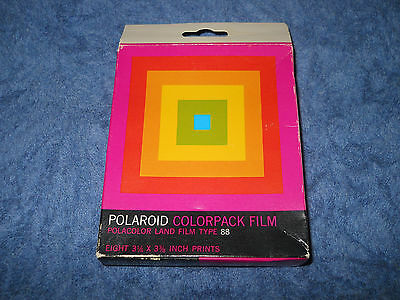 Polaroid Colorpack Film Polacolor Land Type 88 box new unopened exp Aug 1976