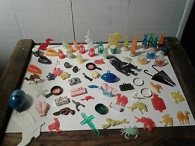 Huge Lot Of 76 Cracker Jack Prizes Charms Plastic Gumball Toys & Vending