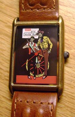 VTG 1960's LEVI'S STRAUSS RARE BIG E Western Wear Wrist Watch! NEW BATTERY!