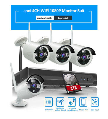 ELEC HD 960H 8CH HDMI DVR 1500TVL IR Outdoor CCTV Home Security Camera System