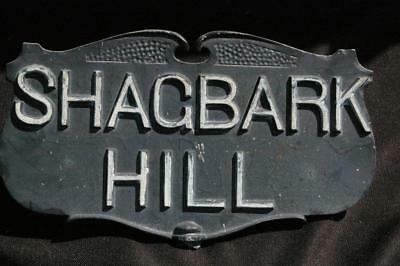 Fancy Vintage Cast Aluminum Street Sign Shagbark Hill Moultrie Mfg. Co.