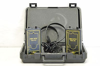 FIS Fiber Optic Talk Set w/ Case & Two Sets Headphones & Fiber Adapter
