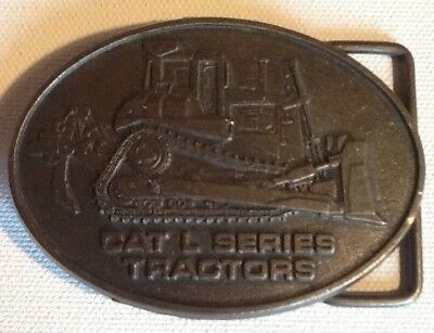 Vintage Caterpillar L Series Tractors Metal Belt Buckle