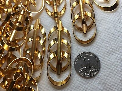 -6pc per pack, Vintage Raw Brass Fancy Love Knot Soldered Tubes FINDING-30mm