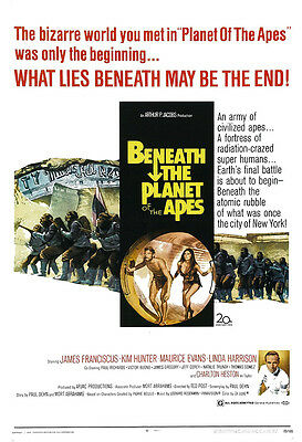 Beneath The Planet Of The Apes Movie Poster Print - 1970 - Sci-Fi - 1 Sheet Art