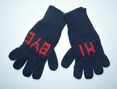 CREWCUTS J CREW Kids Boys GLoves Hi Bye Navy/Red Size M 4-8 JA1
