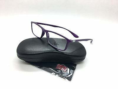 NEW Authentic Ray Ban RB 7048-F 5443 Matte Violet 56mm Rx Eyeglasses