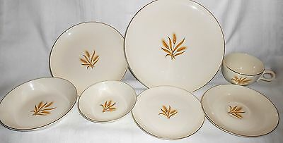 Taylor Smith & Taylor TS&T Versatile Golden Wheat Pattern 7 Piece Place Setting
