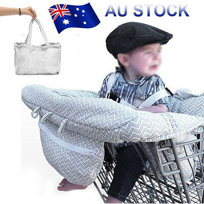 Grey Shopping Cart Trolley/High Chair Cover Clean/Comfortable Baby/Toddler/Child