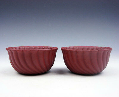 Pair YiXing Zisha Clay Hand Crafted Unique Shape Tea Cups Tea Ceremony #04261701