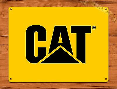 "TIN-UPS TIN SIGN ""Cat"" Caterpillar Yellow Oil Garage Vintage Heavy Equipment"