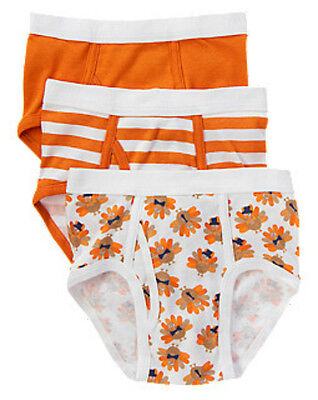 NWT Gymboree Boy UNDERWEAR 3 Pack Thanksgiving  Size 2T-3T
