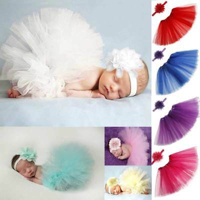 Newborn Photography Props Infant Costume Outfit Princess Baby GirlSkirt Headband