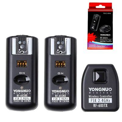 Yongnuo RF-602 wireless flash trigger + 2 receiver for Canon 7D 5D II 1D 600D AU