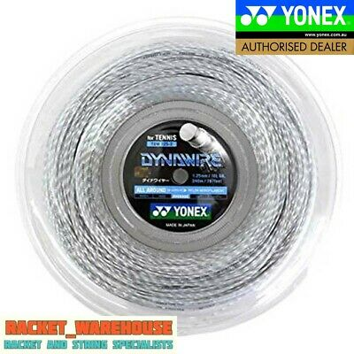YONEX DYNAWIRE 130 TENNIS RACKET STRING - 200m REEL MADE IN JAPAN