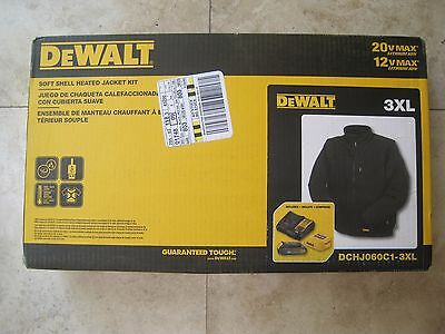 Dewalt DCHJ060C1-3XL Black Soft Shell Heated Jacket KIT MAX Battery Charger 5d