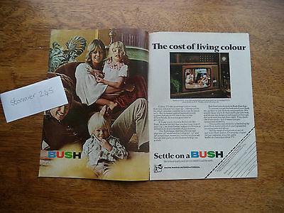 Bush  Tv With Wombles   Very Scarce   Vintage  Magazine Advert