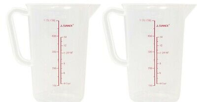 1/2 Litre Small 500ml Measuring Jug Plastic Less Likely to Break With Measuremen