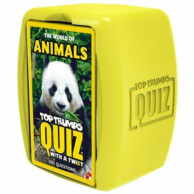Top Trumps Quiz with a twist The World of Animals Card Game
