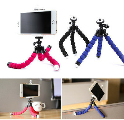 Portable Mini Flexible Octopus Tripod Holder Mount Stand+U-Clip For Phone Camera