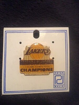 Vintage NBA Los Angeles Lakers 1989 Playoffs Western Conference Champions Pin