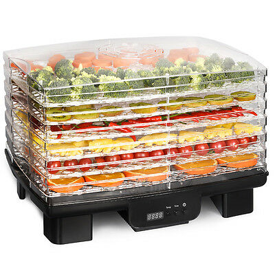 550W Food Dehydrator 6 Stackable Trays Digital Fruit Vegetable Dryer Black Base