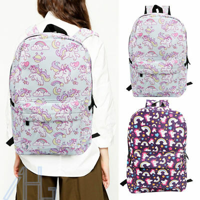 Boy Girls Unicorn Bag Fantasy Backpack Student Schoolbag Travel College Rucksack