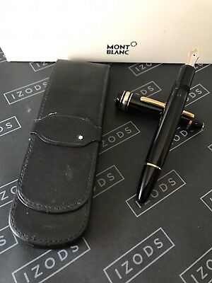 Montblanc Meisterstuck LeGrand 146 Gold Line Fountain Pen with Two Pen Mb Case