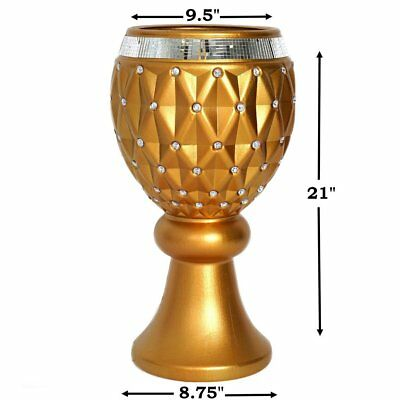 "4 pcs GOLD 21"" tall Decorative Wedding Party Vases Centerpieces Decorations"