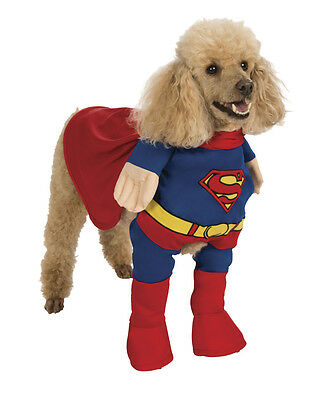 "Superman Pet Dog Costume, XS, Neck to Tail 7"", Chest 15"""