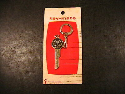 Vintage Plymouth Blank Key-Mate 1969 Curtis Keychain 1641 Colorcrest Gold Plated