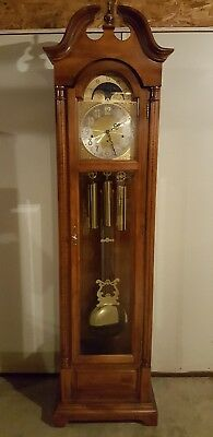 Vintage Working SETH THOMAS Mahogany Westminster Chime Grandfather Clock USA