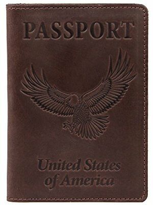 Shvigel Leather Passport Holder - Cover - for Men & Women - Passport Case