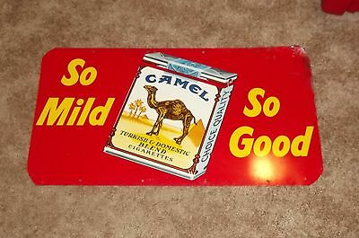 "Vintage 1950's Camel Cigarettes Tobacco, Gas Station, 20"" Metal Sign"