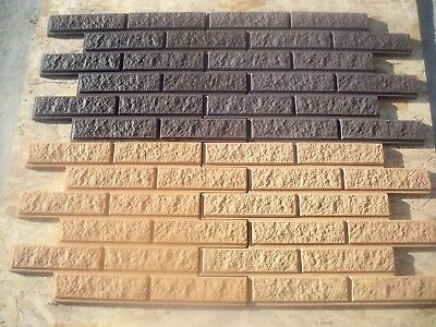 "set of 2 retaining wall brick concrete mold 1//8th/"" poly plastic 11/"" x 8/"" x 4/"""