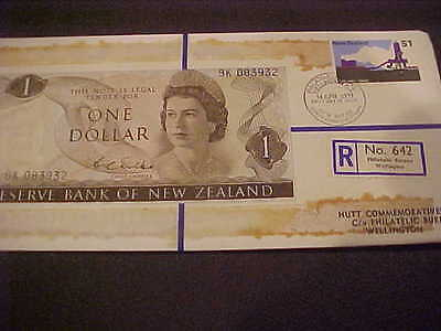 1971 Hutt Comm. New Zealand $1.00 Banknote 32 Of 120 R No 642 Hutt Pnc Series 30