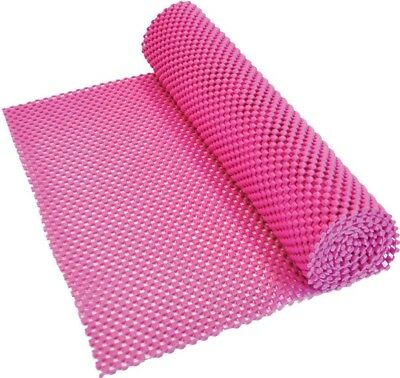 Aidapt Non-Slip Waterproof PVC Fabric for Liner/Place Mat 150x30cm Roll | Pink