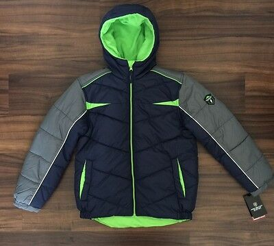 Protection System jacket Quilted Size 10/12 Boys New With Tags atlantic navy