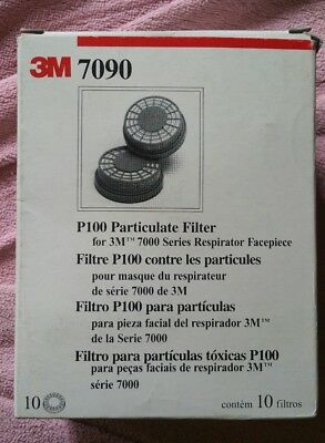 3M 7090 P100 Particulate Filter Cartridges, Japan Made, 1 Box of 10 NEW in box ☆