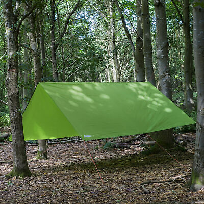 Andes Waterproof 3m x 3m Camping Tape Sealed Green Tarpaulin Tarp Sheet