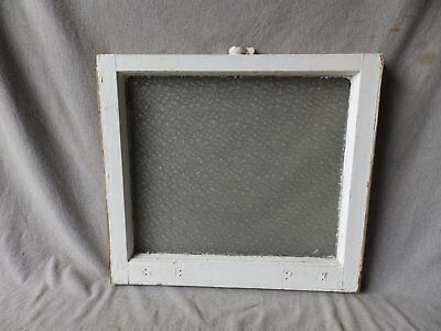 Antique Florentine Privacy Glass Window Sash Shabby Cottage Chic 22x25 289-17P