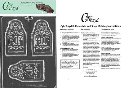 RIP Tombstone Bar Halloween Chocolate mold In Sealed Poly Bag w/Instructions