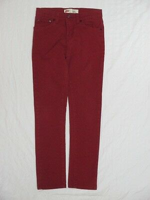 b) LEVI'S 510 RED SKINNY STRETCH JEANS BOYS SIZE 14