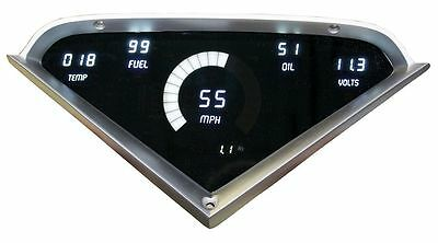 Chevy Truck DIGITAL DASH PANEL FOR 1955-1959 Gauges GMC Custom Dash White LEDs!