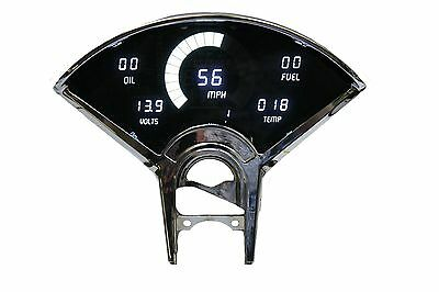 Chevy Bel Air DIGITAL DASH PANEL FOR 1955-1956 Gauges Intellitronix White LEDs!!