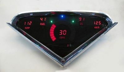 Chevy Truck DIGITAL DASH PANEL FOR 1955-1959 Gauges Custom Dash GMC RED LEDs!
