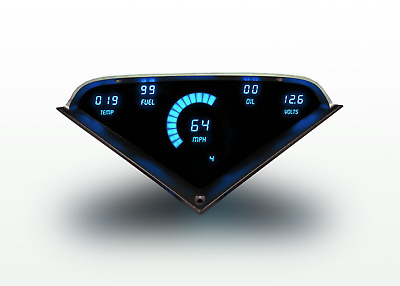 Chevy Truck DIGITAL DASH PANEL FOR 1955-1959 Gauges GMC Intellitronix Blue LEDs!