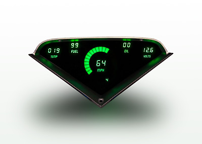 Chevy Truck DIGITAL DASH PANEL FOR 1955-1959 Gauges GMC Custom Green LEDs!