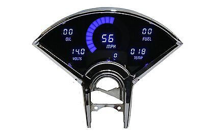 Chevy Bel Air DIGITAL DASH PANEL FOR 1955-1956 Gauges Intellitronix Blue LEDs!!